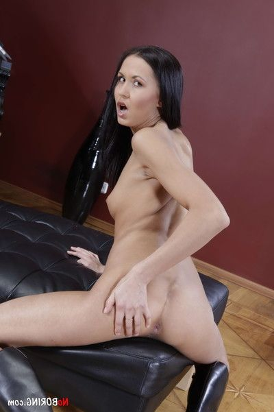 Flat chested courtesan enjoys ass-hammering and dp fucking in mmf threesom