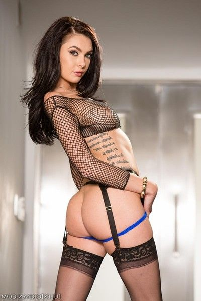 Super hot babe anally drilled in stockings