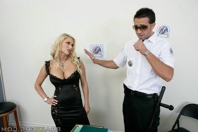 Busty MILF Shyla Stylez has her ass and pussy penetrated in the office