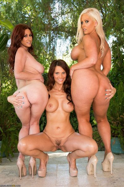 Triple assed milfs bonked in oiled anal group sex