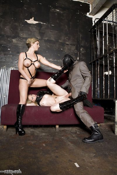 Hot infatuation chicos have a BDSM groupsex with well-hung masked guy