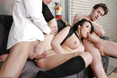 Titsy playful Emma Heart is into a group sex in a reality story