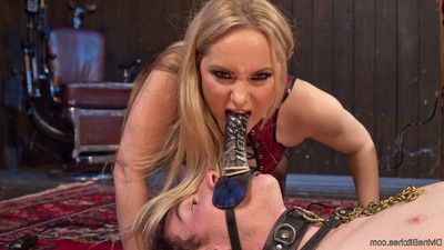Artemis faux has been a very bad boy, and aiden starr corrects him with one grue