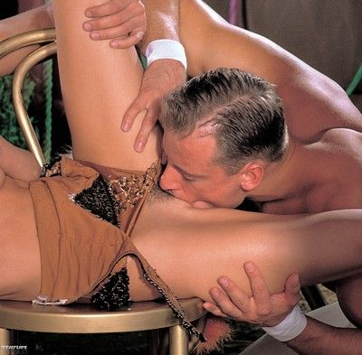 Vintage anal sex threesome with nasty fairy