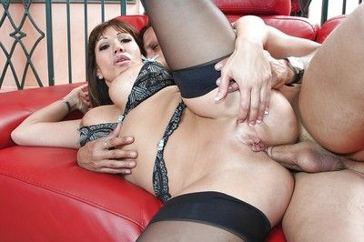 Excited MILF Ava Devine has some anal fist-fucking and fucking fun with a hung lad
