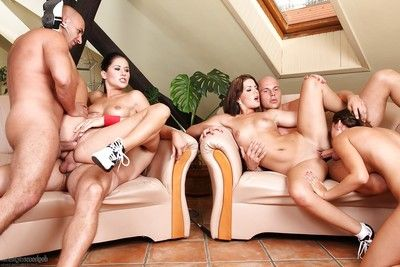 Spiteful Euro groupsex fucking with Lucy Bell, Iwia and Rihanna Samuel