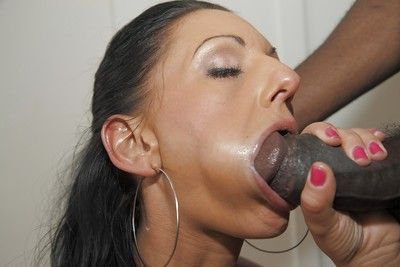 Interracial pornstar Destiny taking hardcore anal drilling from BBC