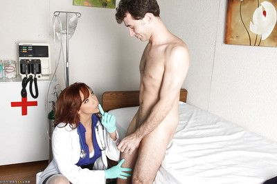 Wild uniformed doctor with huge hooters Nikki Hunter in groupsex