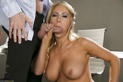 Hungry secretary Tasha Reign has some hardcore fun with her hung boss