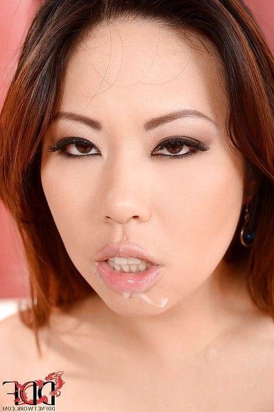 Terrifically sexy Asian model Tigerr Benson has hardcore sex action