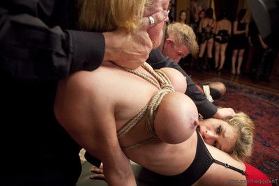 Carmen caliente and darling get manhandled and worked over by mr. bailey and the