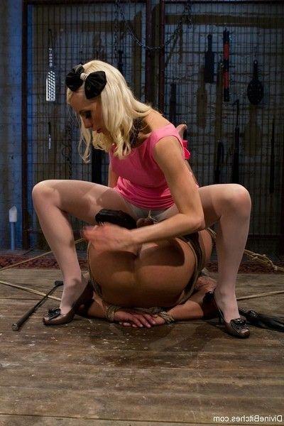 Human furniture: perspired fairy mastix objectifies slave!