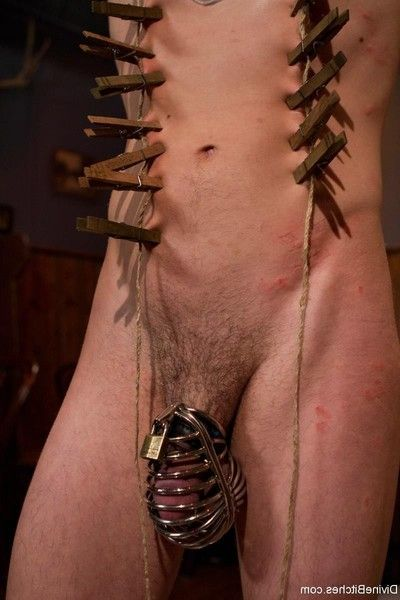 Mistress humiliates & punishes her cuck with triple black studs!
