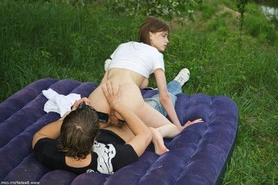 Hot picnic on the grass