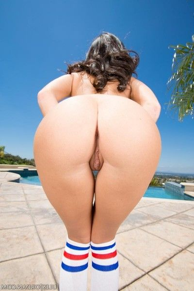 Miniature megan rain fucked into ass with a mammoth cane