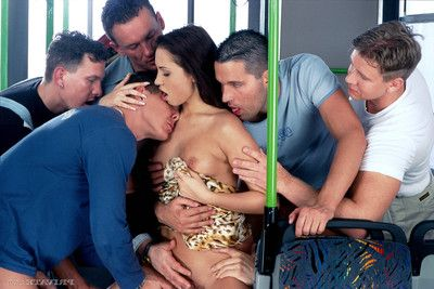 Alexa may satisfies a lot of big dongs in a passionate gangbang