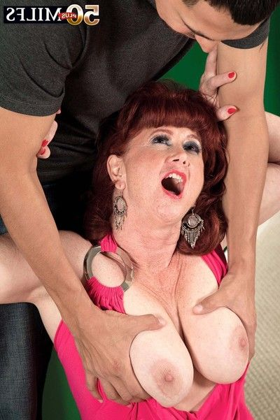 Horny milf shirley lily receives huge cock in the ass