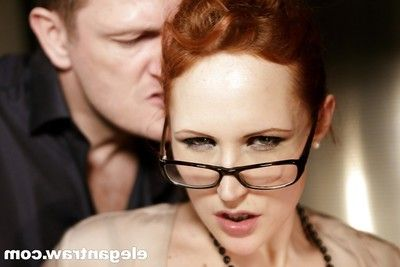 Hardcore butt fucking and creampie for redheaded Euro pornstar Emy Russo