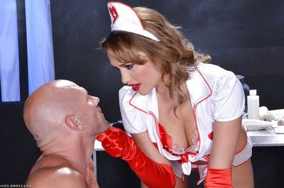Mia is a very charming nurse that coverts to have an examine today