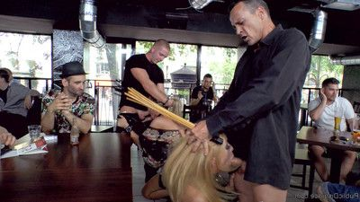 These two blondes will go to any length to please their dominant. afterward being pu