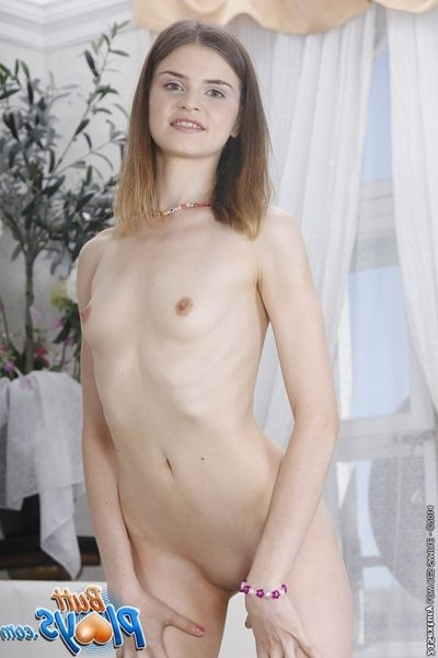 Skinny hottie Anna Taylor pleases her European waste with anal toys