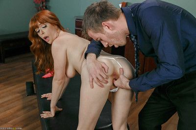Redhead patient Penny Pax having asshole penetrated by massive 10-Pounder