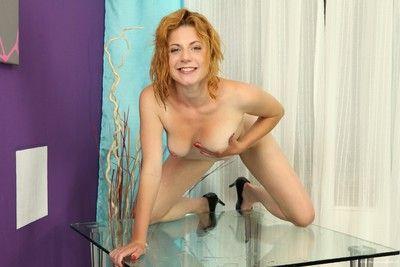 Ritta toys her pissy vagina and tight anus