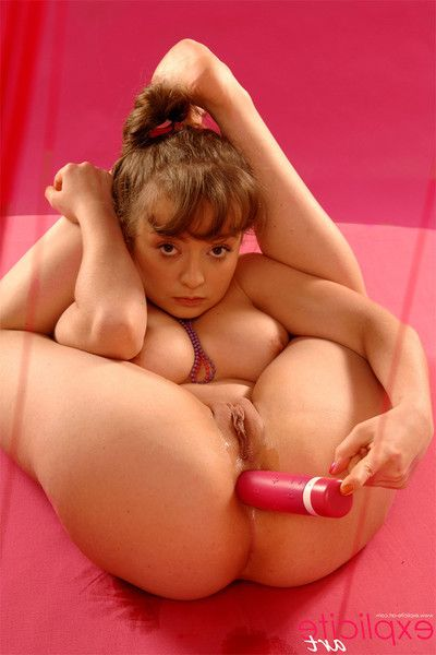 Spectacular petite youthful toys her tight little assholes and pees
