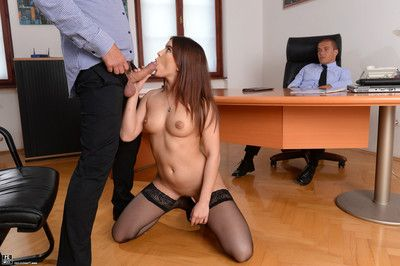 Evelina darling gets double bonked by her two managers in th