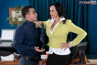 The assfucked mature boss in office