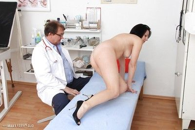 Grandpa broad Lydie strips uncovered for Gyno dcotor to examine her