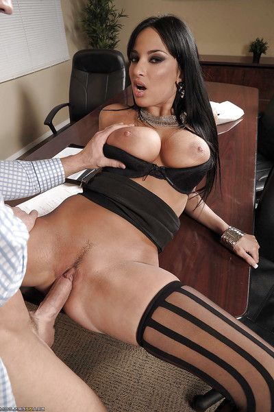 Busty babe Anissa Kate gets her love-cage licked and her asshole drilled