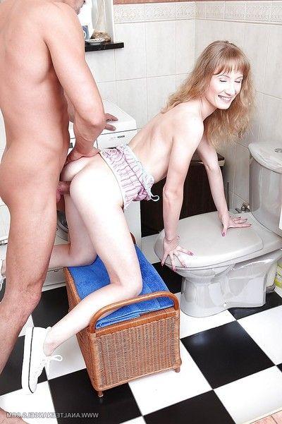 Slippy anal slut copulates a big boner and exposes her anal gape