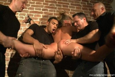 Elegant Teenage yr old russian blonde accepts brutally group-fucked