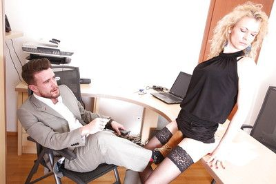European office slut Anita Vixen gets owned by her fascinating boss