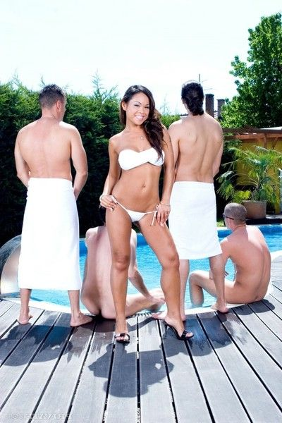 Hot asian jade sin gets gang banged in the pool