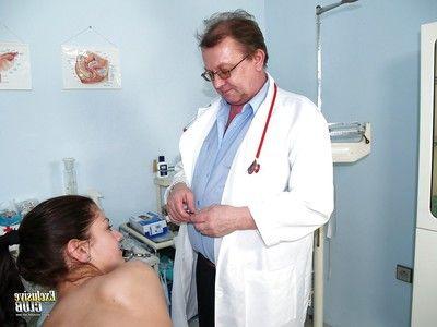 Zealous flapper pornstar Monika gets nasty her old doctor
