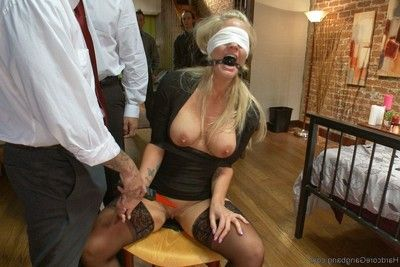 Blonde slut wife receives slammed fall in love with subspace!
