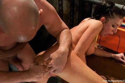 Punishment with enormous anal toys and objects double penetration