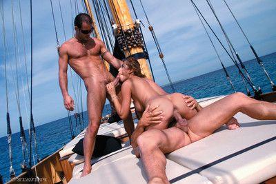 Porn captain regina ice double bonked in the ocean