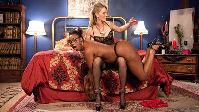 Mistress mona wales orders decadent call girl for spanking, twat licking, finger b