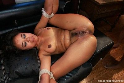 Hot princess obtains fastened up, punished and fucked by group of guys