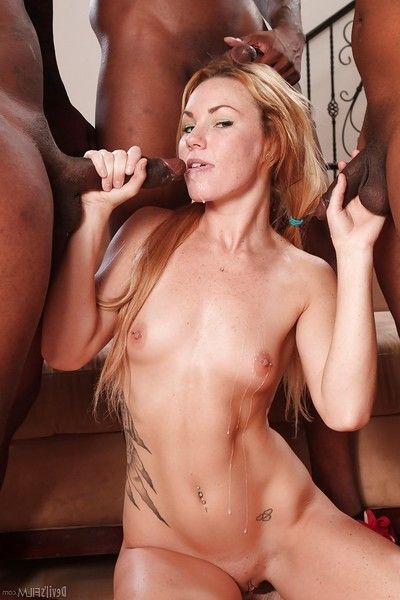 Hardcore interracial Groupsex with awesome whitey Summer Daniels