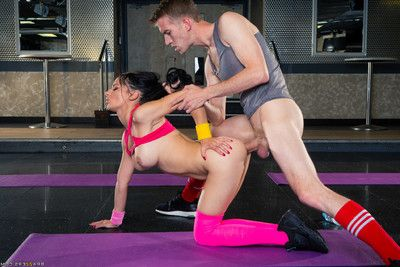 Sophia laure gets her ass drilled by her trainers intense dong