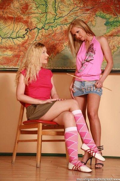 Cute schoolgirls