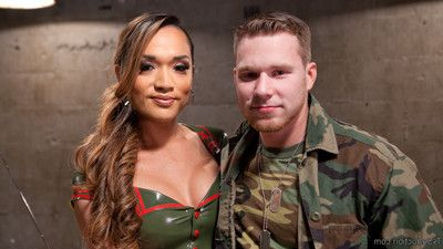 Army sergeant, jessica fox, punishes cadet, owen michaels, for his over sexed at