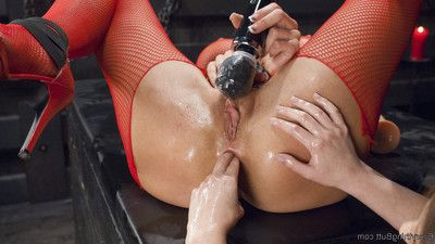 Celeste summerz is the perfect anal whore. this chick begins with toys buried in her as