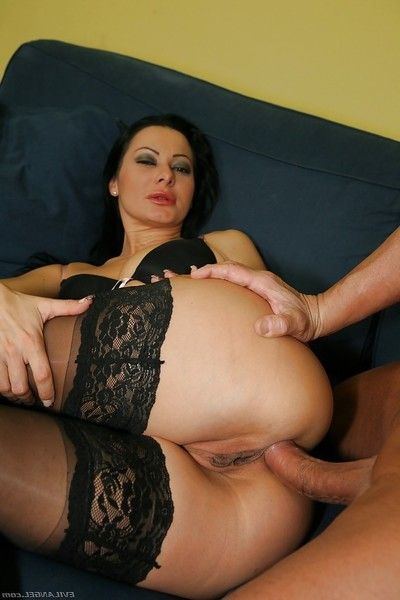 Sandra Romain gets her chocolate hole drilled by a rough stick and a swarthy apparatus