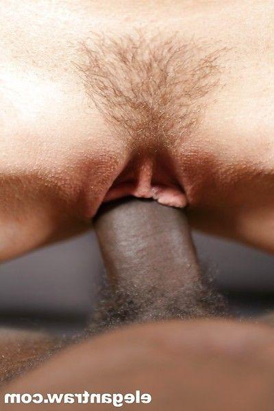 Rounded Euro pornstar Aleska Diamond stars in grubby interracial copulation scene