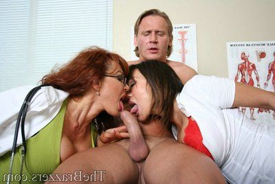 Hot MILF babes Sexy Vanessa and Ava Devine have dirty groupsex
